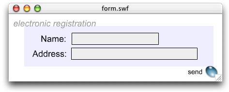 Sample Form in Adobe Flash CS3 Professional